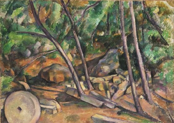 Cezanne, Paul: Millstone in the Park of the Château Noir. Fine Art Print/Poster. Sizes: A4/A3/A2/A1 (004240)